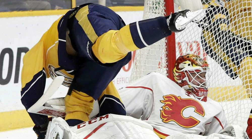 Predators Lose to Flames in OT 5-6-Pred Tumble1000