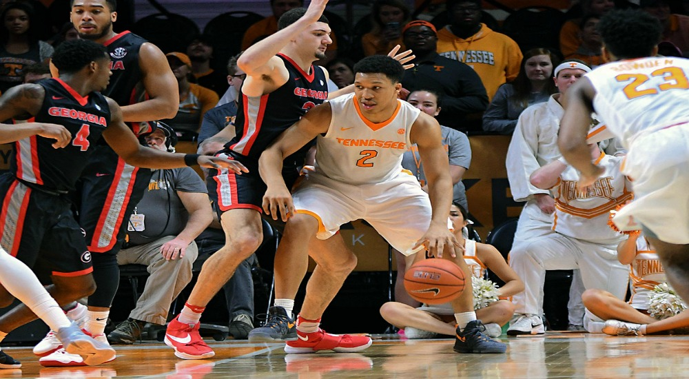 Tennessee Vols Georgia Bulldogs Grant Williams1000