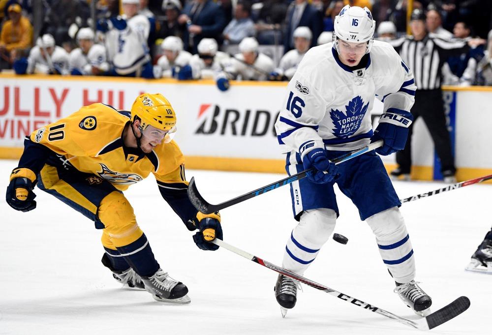Nashville Sports News Maple Leafs defeat Predators 3-1 Cover