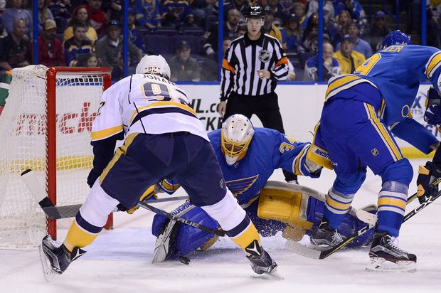 Preds Fall To Blues First Playoff Loss 1