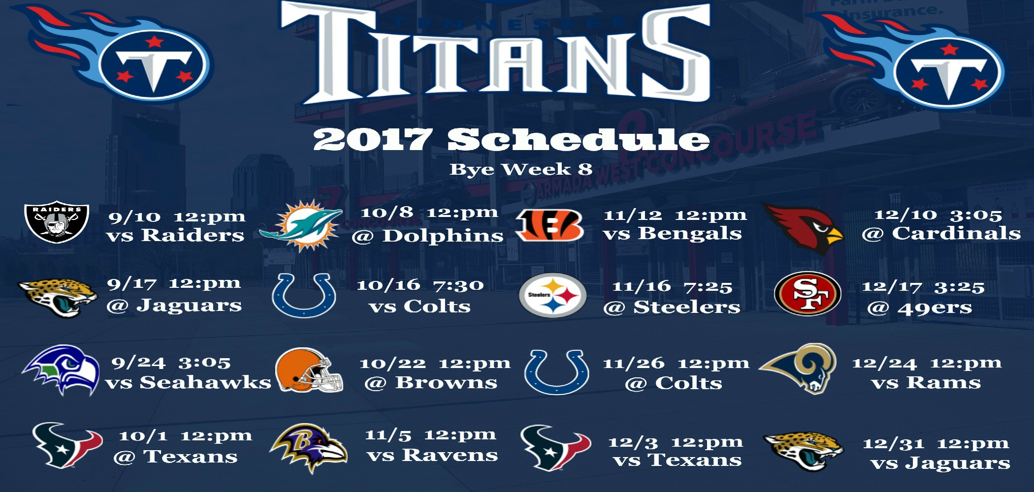 Tennessee Titans 2017 Schedule Wallpaper 1000