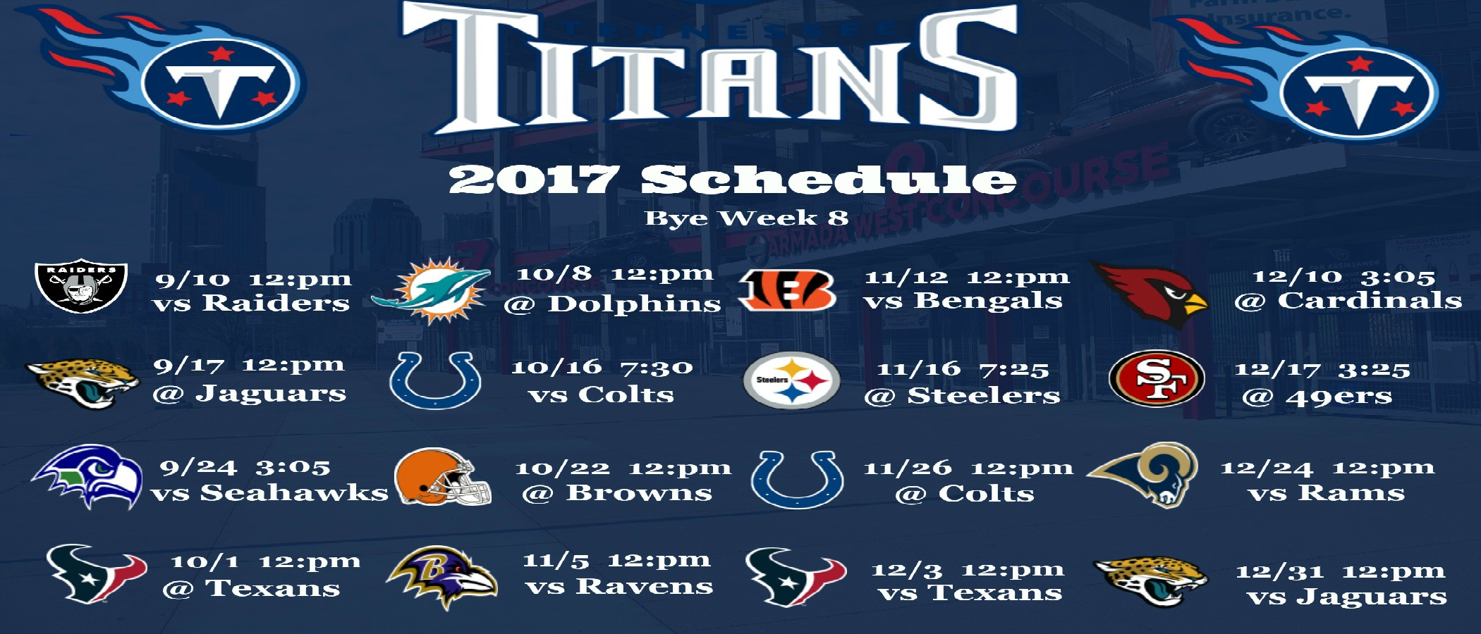 Tennessee Titans 2017 Schedule Wallpaper 900