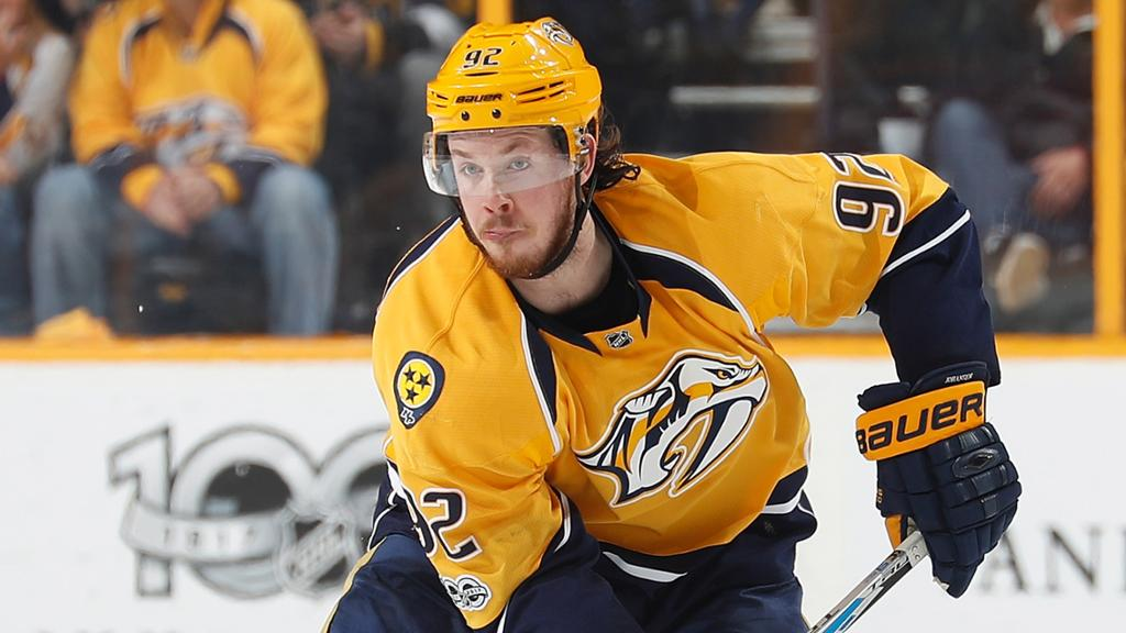 Preds Ryan Johansen Out For The Year Cover