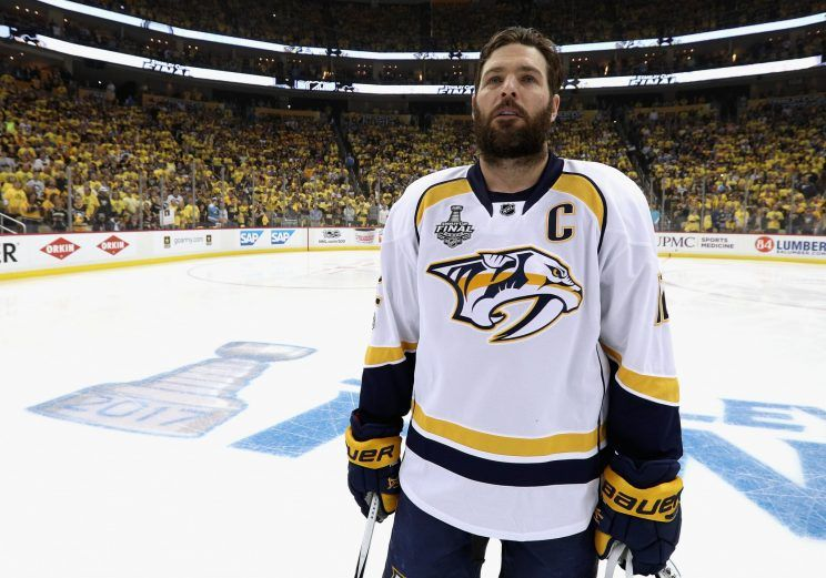 Predators Without 2018 Contracts-Free Agents Mike Fisher