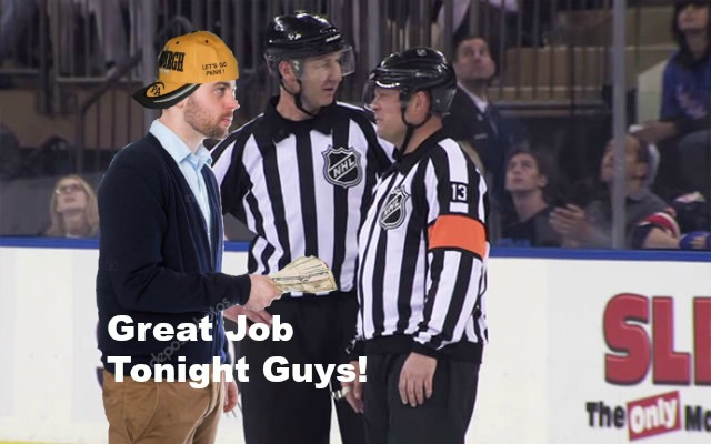Between Blue Lines- Preds Game 5 referees