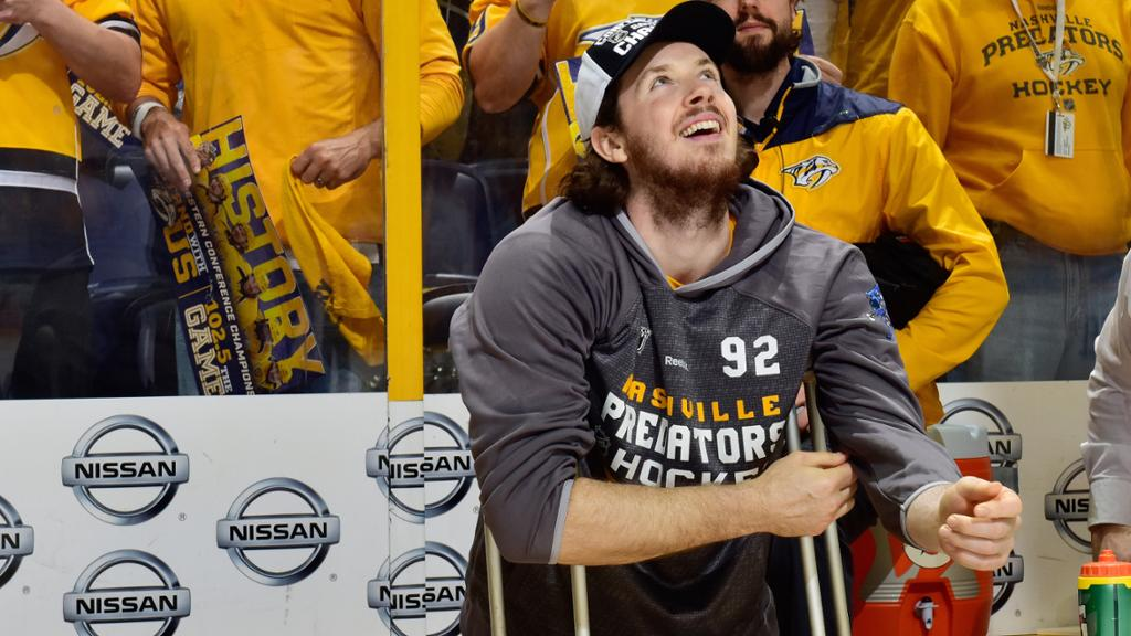 Ryan Johansen Signs 8 Year Deal With Preds Injured
