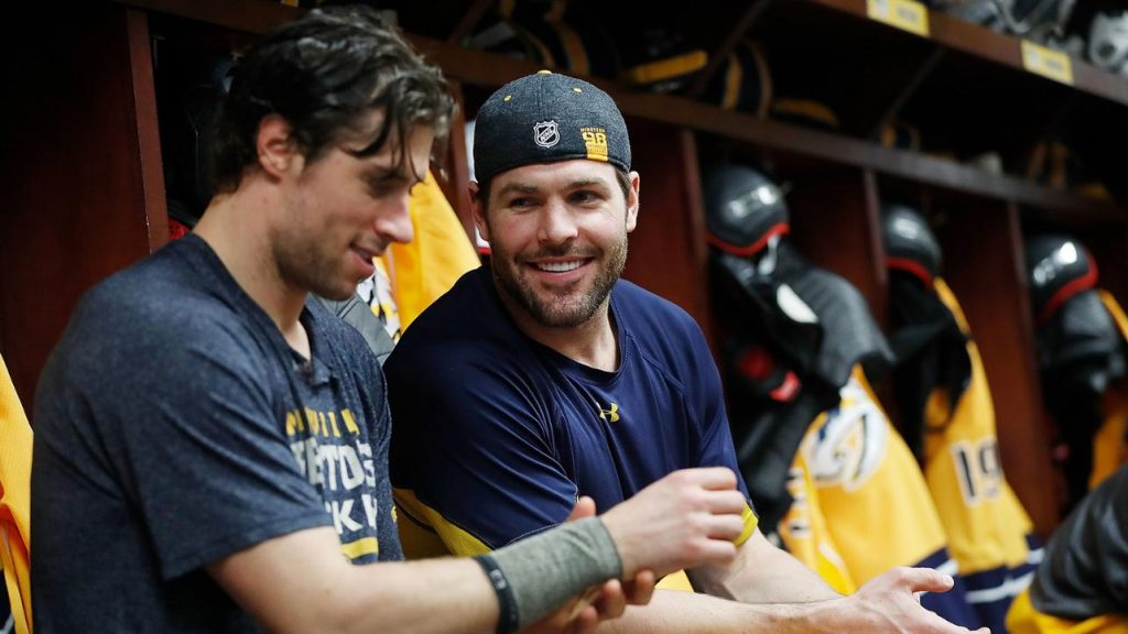 Predators Mike Fisher Retires From NHL locker