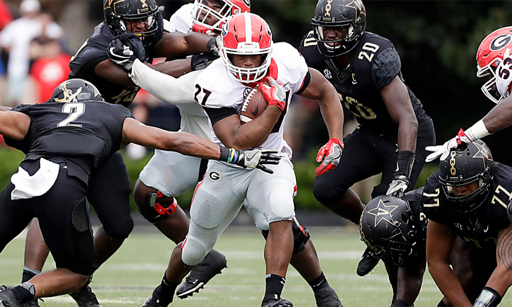 Georgia Defeats Vanderbilt 45-14 Run