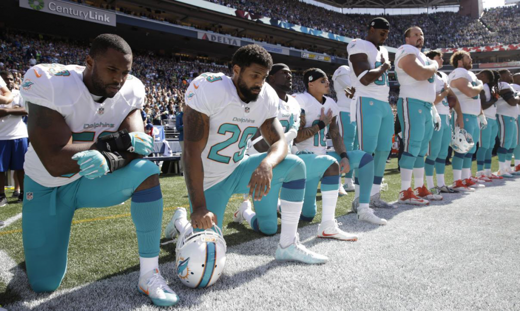 Kneeling During The National Anthem? Miami