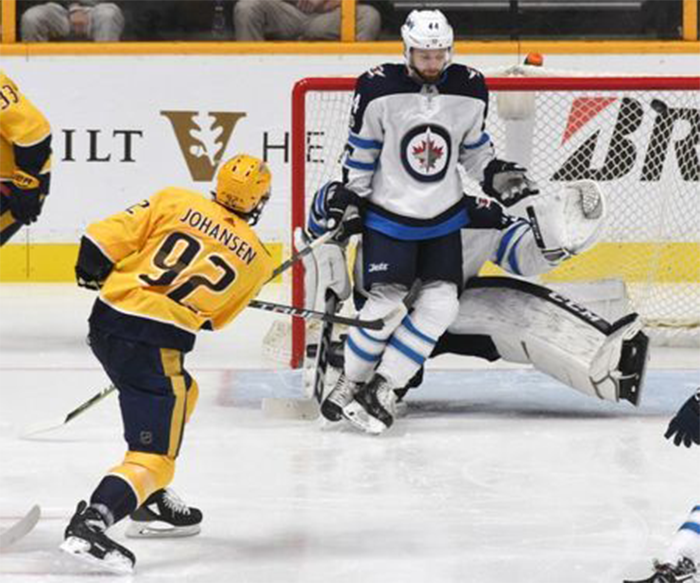 Predators Fly Past Jets 5-3 Johansen