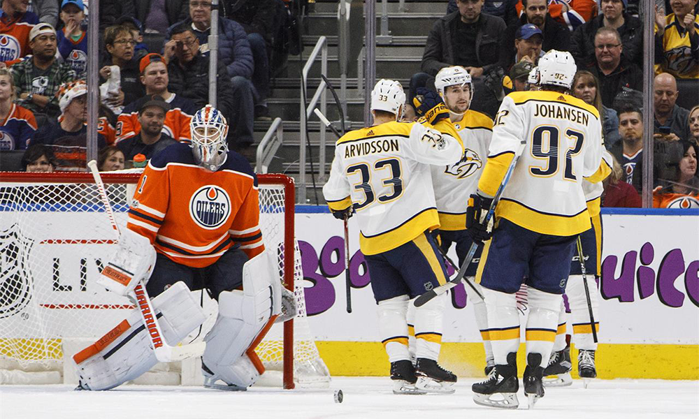 Predators Blank Oilers 4-0 Win