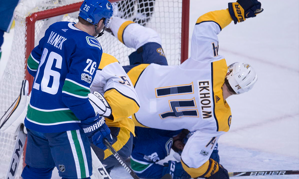 Preds Destroy Canucks 7-1 Ekholm