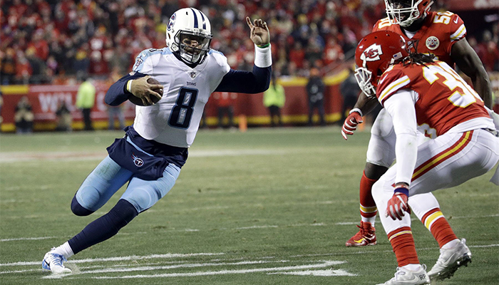 Titans March On-Defeat Chiefs 22-21 Mariota